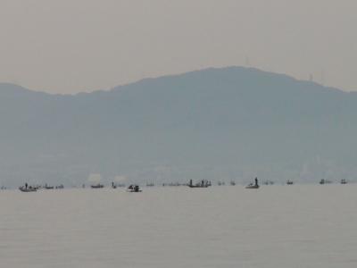 下物沖の船団