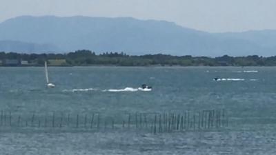 GWに爆風の琵琶湖(YouTubeムービー)