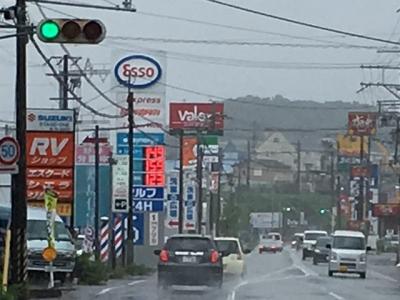 レギュラーガソリン149円/L 西近江路沿い大津市真野のセルフGSで(18/07/05)