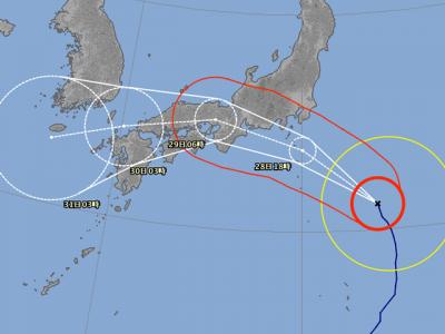 台風12号進路図(7月28日6時)