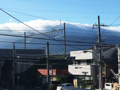 比良山の雲