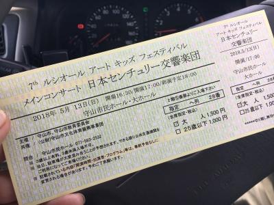 日本センチュリー交響楽団演奏会の入場券