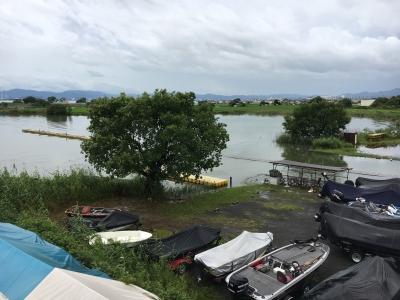 水位プラス69cm時のアークロイヤルボートクラブ
