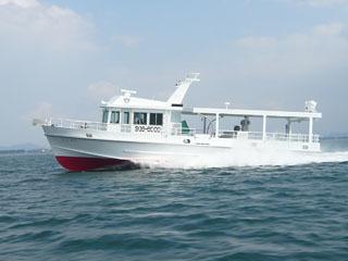 滋賀県水試の漁業調査船琵琶湖丸