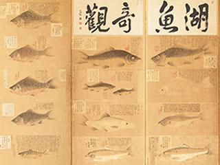 湖魚奇観(部分)