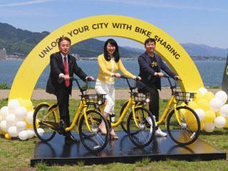 大津市内で400台規模のシェアサイクルがスタート