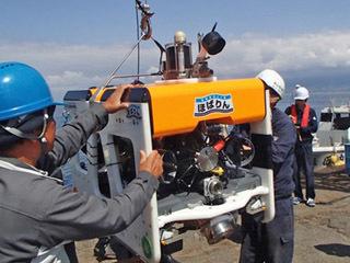 海上技術安全研究所の水中ロボット「ほばりん」