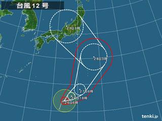 台風12号進路予想(7月26日6時)