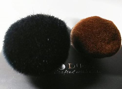 DUcare メイクブラシ 山羊毛とタクロン 2本セット