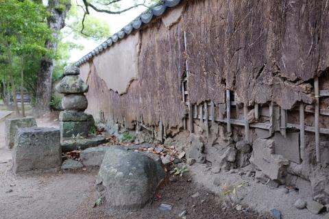 28杵築城下町藩校の築地塀
