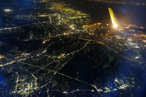 30着陸前の夜景