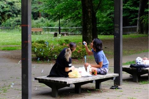 07和田堀公園シャボン玉