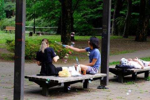 16和田堀公園シャボン玉