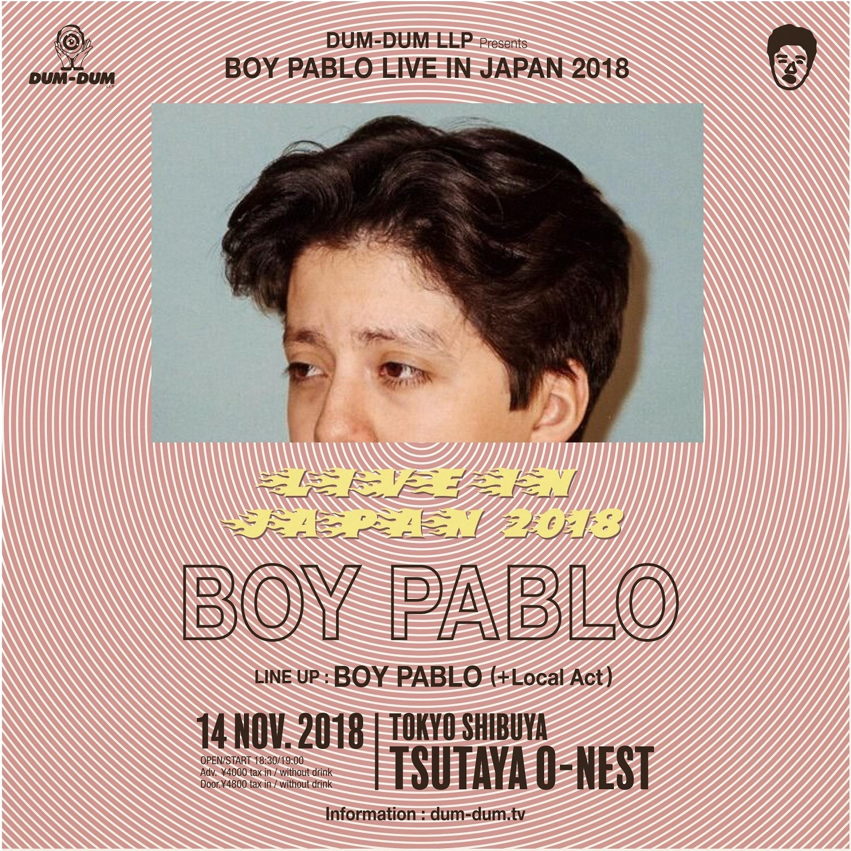 BOY PABLO_2018来日フライヤー