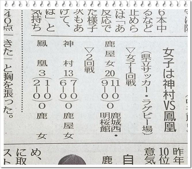 女子サッカー結果1-1