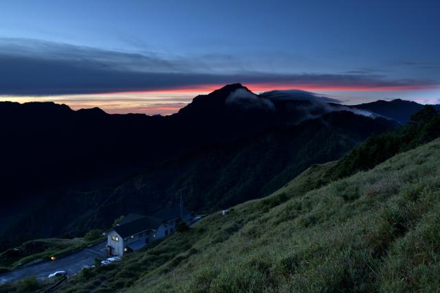 山荘の日の出(1)