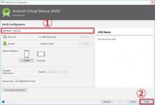 Virtual Device configuration Android Virtual Devices