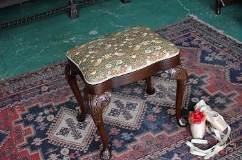 イギリスアンティーク家具 スツール2