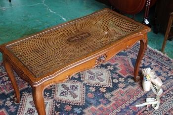 イギリスアンティーク家具 ガラストップ/コーヒーテーブル センターテーブル