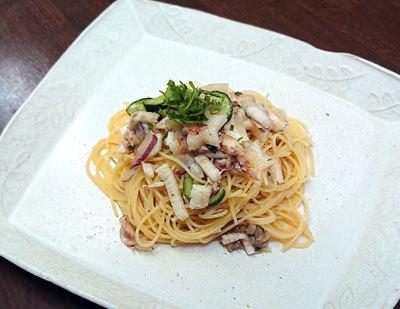 野菜たっぷり長芋とツナの梅カッペリーニ