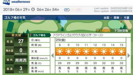 アクアライン0629天気