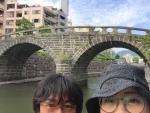 長崎市の眼鏡橋で。2018.6.17