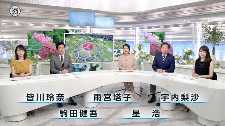 宇内梨沙 NEWS23 (2018年06月15日放送 7枚)