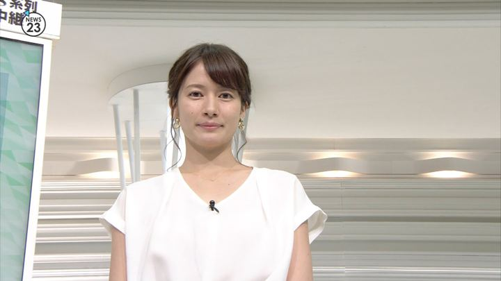 宇内梨沙 NEWS23 (2018年08月09日,10日放送 21枚)