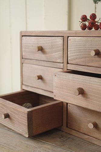 ナチュラルでシンプルな木製小引き出し