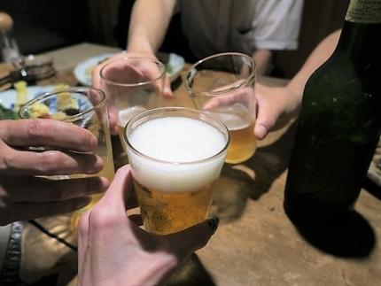 18-6-7 ビア乾杯