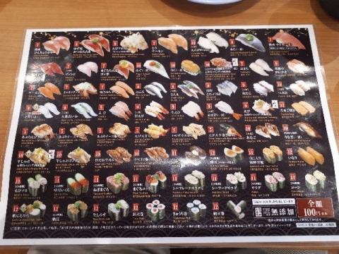 くら寿司・H30・6 メニュー1