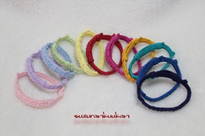 スタークロッシェ柄ゆる編み首輪