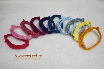 ゆるゆる編み首輪