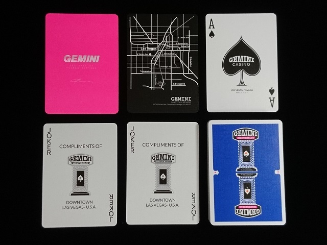 GEMINI CASINO Playing Cards Royal Blue (5)