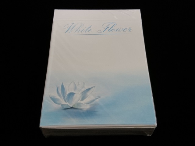 White Flower Playing Cards (1)