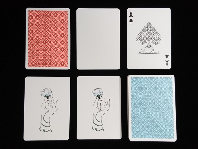 White Flower Playing Cards (5)