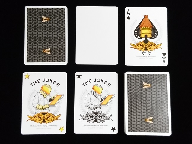 Honeybee V2 Playing Cards Black (5)