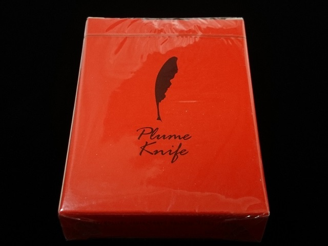 Plume Knife Playing Card Red (1)
