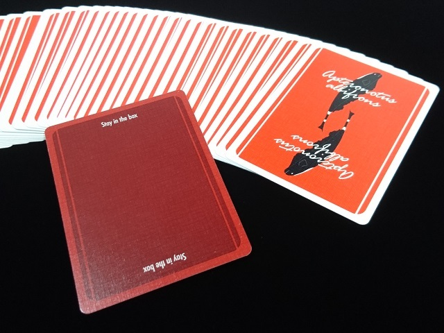 Plume Knife Playing Card Red (4)