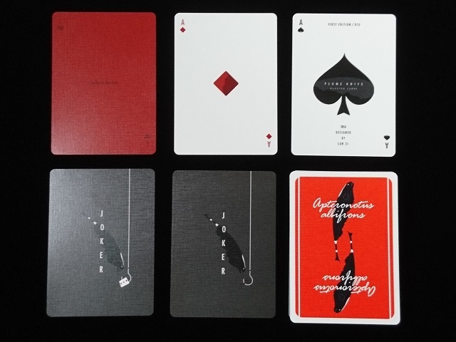 Plume Knife Playing Card Red (5)