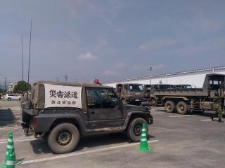 自衛隊の災害支援車両s