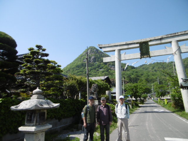 太郎坊山全景の写真