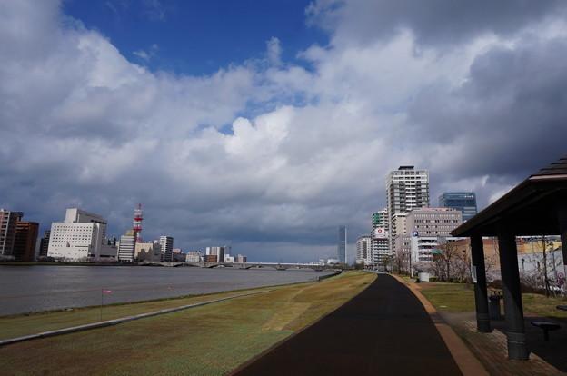 信濃川と万代橋