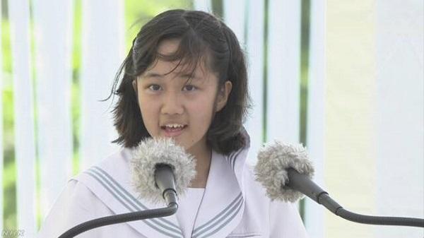 沖縄戦から73年 戦没者追悼式「平和の詩」全文