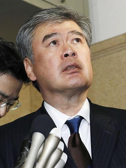 セクハラで辞任した福田前次官 ©共同通信社