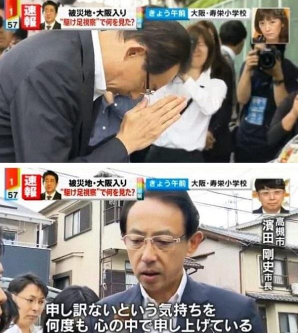 日テレの「ミヤネ屋」などは、6月21日に現場の視察に訪れた安倍首相について批判的な論調で報道し、高槻市長の犯罪などについては全く責任を追及しなかったという