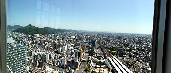 ぎふシティタワー43_43階展望室からの眺望2018_01