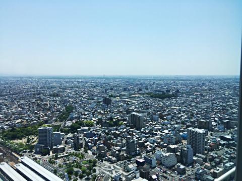 ぎふシティタワー43_43階展望室からの眺望2018_02