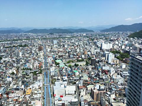 ぎふシティタワー43_43階展望室からの眺望2018_03