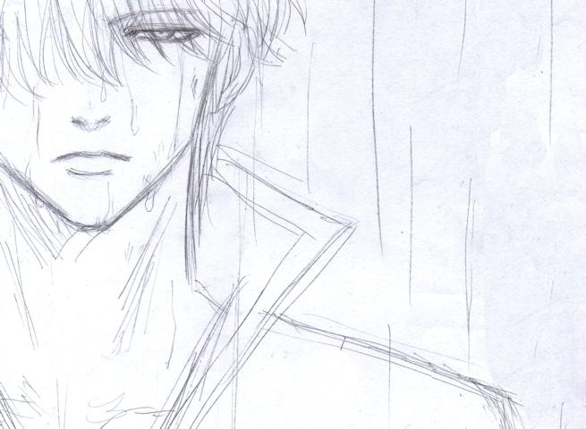 坂田銀時 落書き 雨